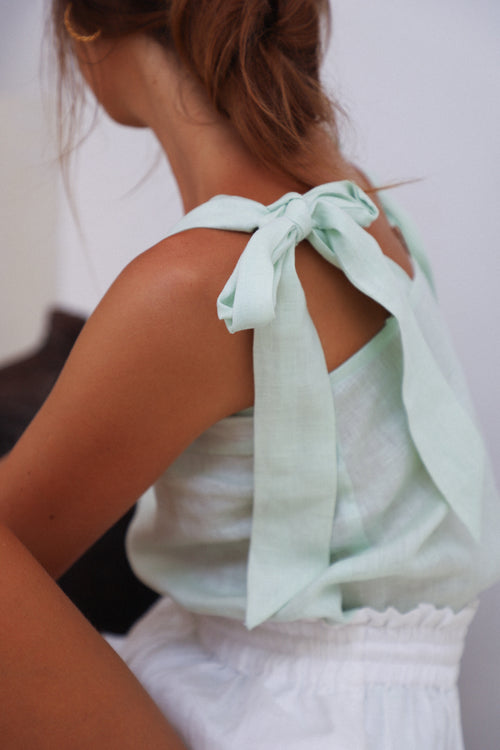 THE STELLA TOP | PASTEL BLUE