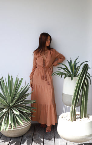THE KAIA MIDI WRAP DRESS | HONEY FLOWER