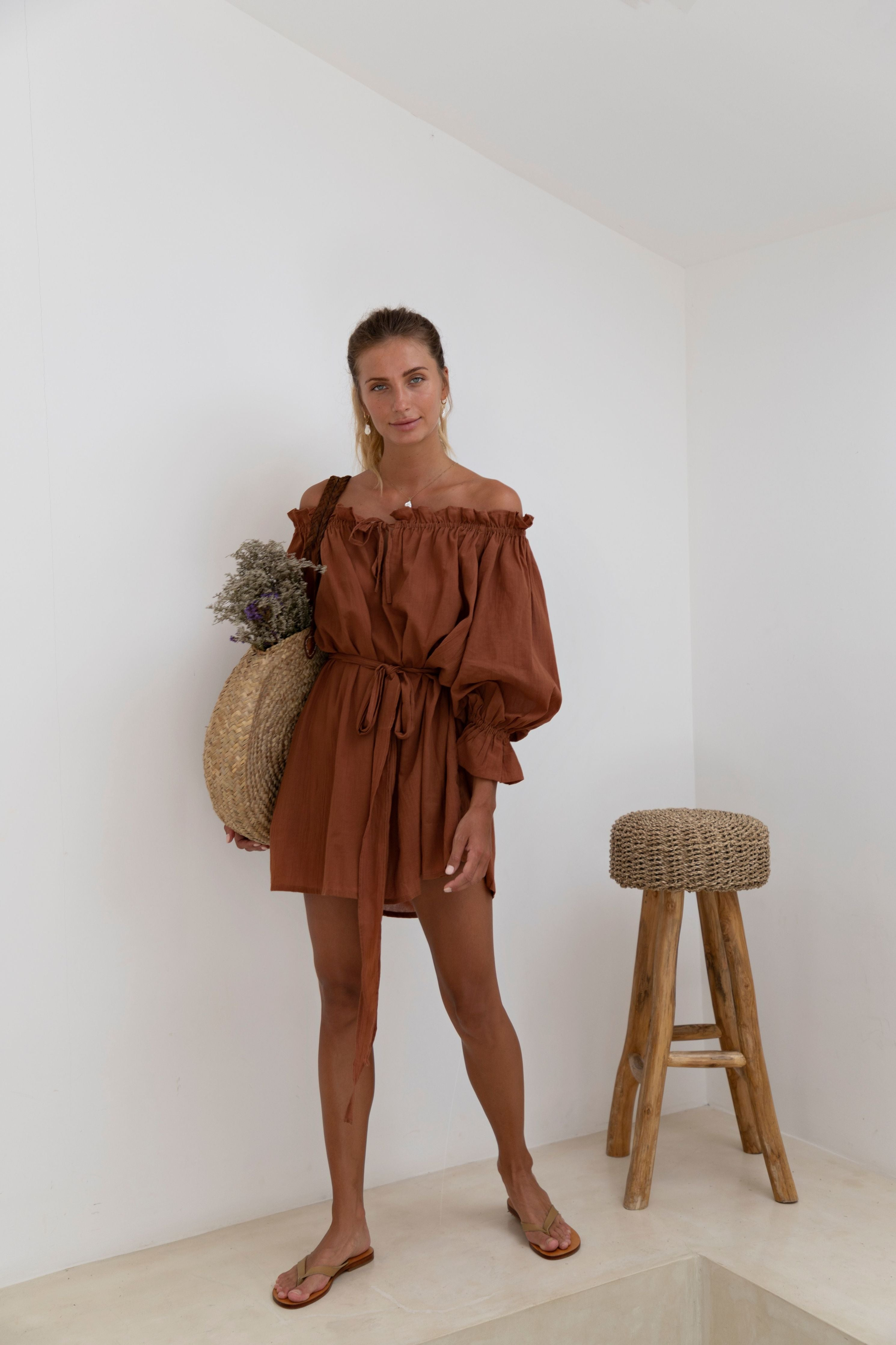 THE EMMALINE TUNIC | CINNAMON