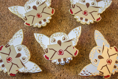 Owl Post Glitter Enamel Pin *SECONDS SALE*