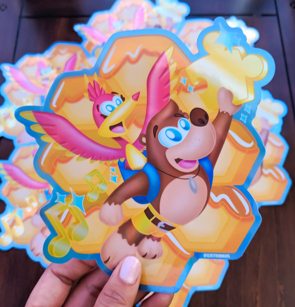 Puzzled Hologram Sticker