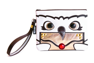 Owl Post Clutch Bag With Wristlet
