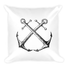 Marblehead Series: Location & Crossed Anchors [Square Pillow]