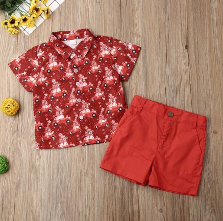 Red Car Printed Outfit
