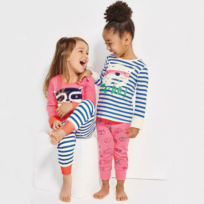 Animal Stripes Pajamas Sets
