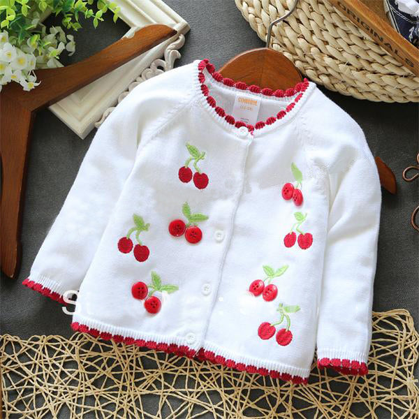 Cherry Fruit Cardigan Sweater