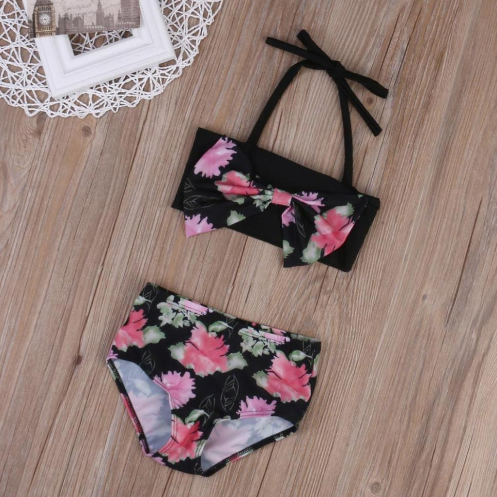 Floral Bowknot Swimsuit Outfit