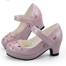Flower Embroidery High Heel Shoes
