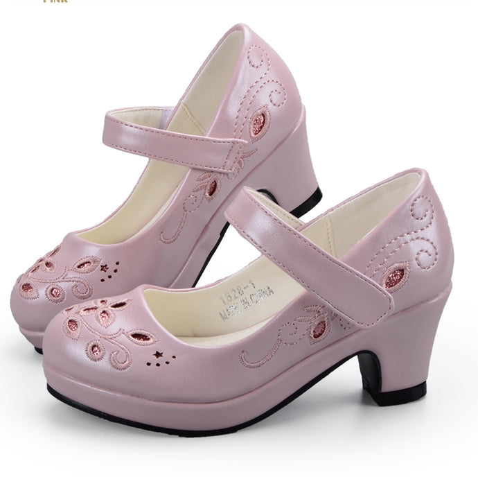 Flower Embroidery High Heel Shoes 7717151133e9