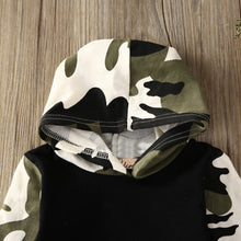 Camouflage Hoodie Outfits Set