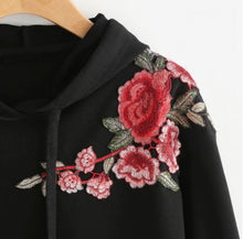 Embroidery Pullover Sweatshirt