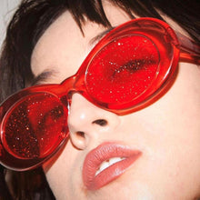 Retro Glittered Transparent Sunglasses