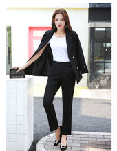 Plus Size Solid Jacket & Pant Blazers