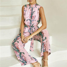 Chiffon Floral Backless Jumpsuit
