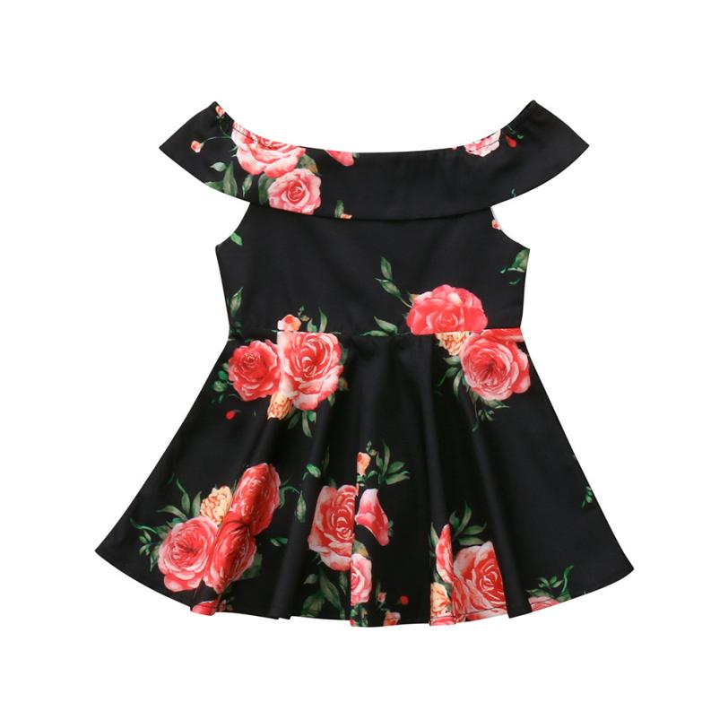 Floral Sleeveless Family Dress