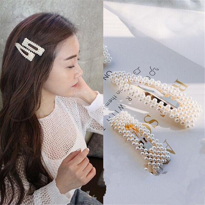 Snap Hair Barrette Stick Hairpin