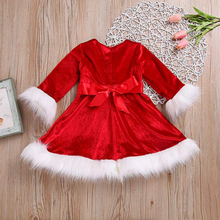 Red Velvet Fleece Dress
