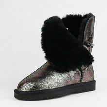 Cowhide Leather Snow Boots