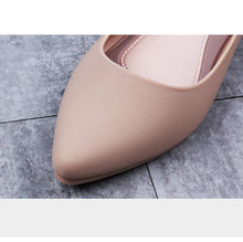 Pointed Shallow Low Heel Shoes