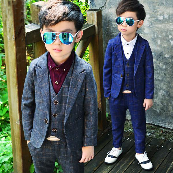 Costume Plaid Blazers Suits