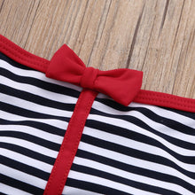 Bowknot Straps One Piece Swimsuit