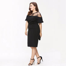 Sexy Patchwork Bodycon Lace Dress