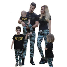 T shirt Tops+Pants Set family Outfits