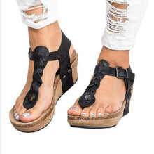 Buckle Strap Wedges Sandals