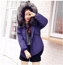 Feather Padded Hooded Jacket