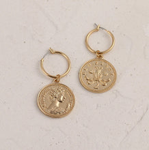 Medusa Coin Drop Earrings