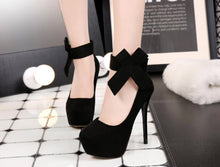 High Heels Bow Shoes
