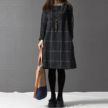 Casual Check Plaid Dress
