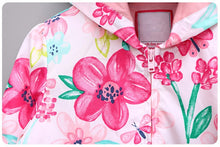 Floral Long Sleeve Hooded Jackets