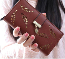 Hollow Out Leaf Bifold Wallet