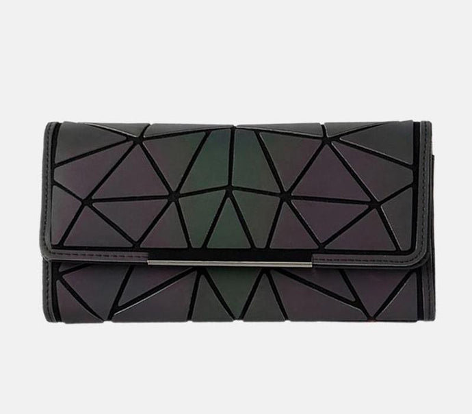Geometric Luminous Long Purse