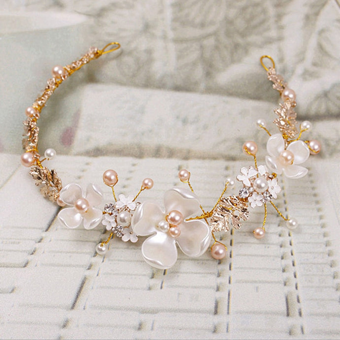Bridal Flower Faux Hairband