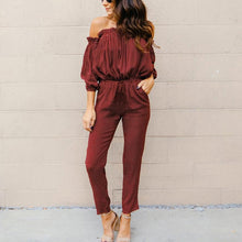 Off Shoulder Sexy Wave Point Rompers