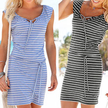 Sexy Stripe Boho Dress