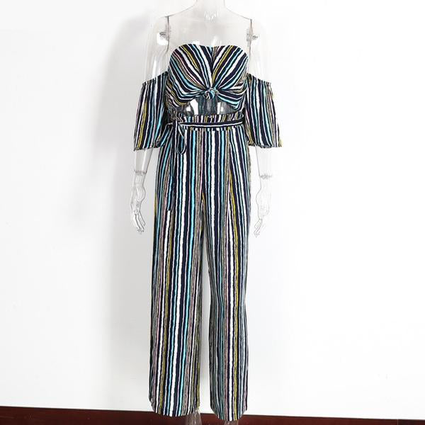 Striped Loose Jumpsuits