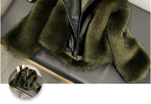 Artificial Fur Leather Jacket