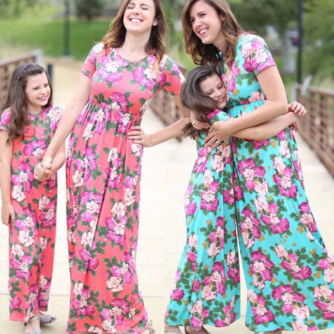 6fb3211c0c3f Floral Print Matching Dress Outfits