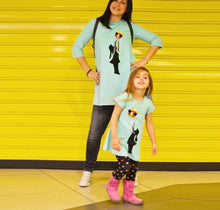Balloon Printed Mother And Daughter Matching Clothes