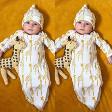 Giraffe Pajamas Gown + Hat Outfits
