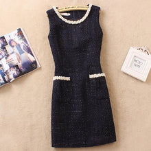 Wool Blend Sleeveless Dress