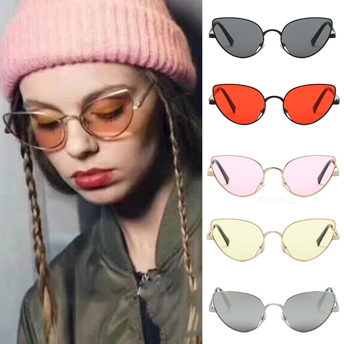 Vintage Retro Oval Sunglasses