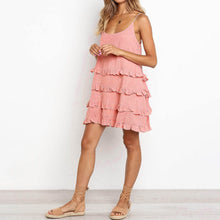 Bohemian Ruffle Beach Dress