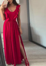 Sexy Pleated Red Long Dress