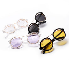 Steampunk Transparent Round Sunglasses