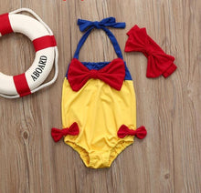 Bowknot Straps One Piece Swimwear