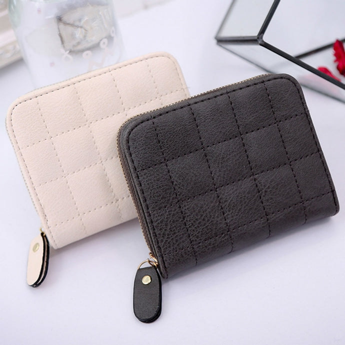 PU Leather Plaid Purse